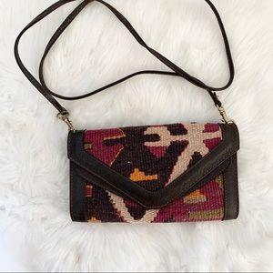 Free People Olivia Tapestry crossbody purse